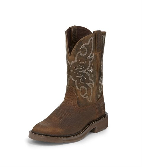 JUSTIN AMARILLO CHOCOLATE WORK BOOT