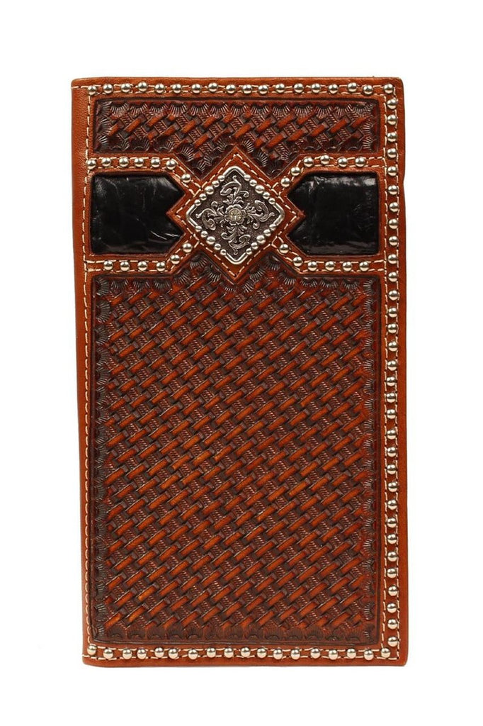 Ariat Basket Weave Rodeo Wallet