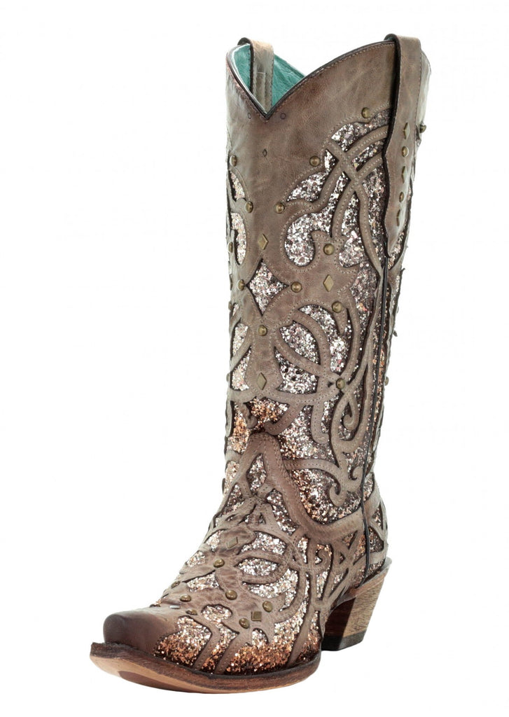 CORRAL LADIES ORIX GLITTER INLAY BOOT