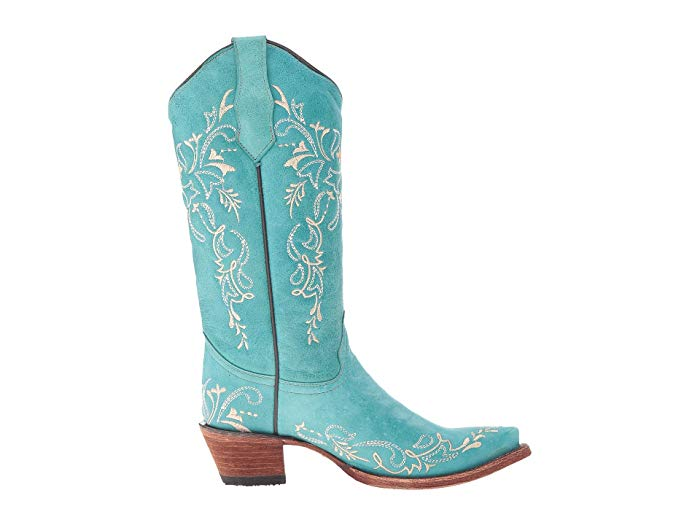 CORRAL CIRCLE G LADIES TURQUOISE EMBROIDERED BOOT