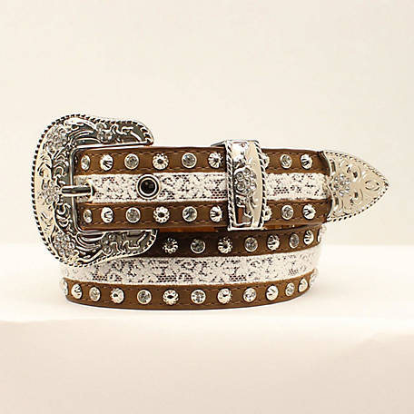 3D Girls' Studded Lace Design Belt