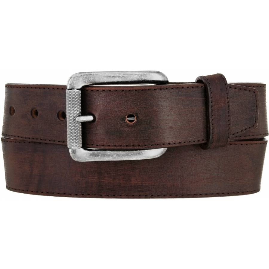 JUSTIN MEN'S BROWN BOMBER BELT