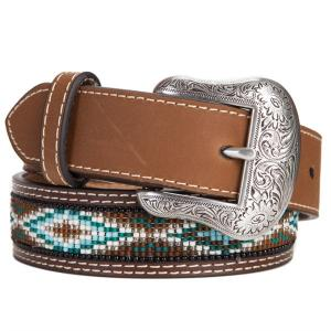 Nocona Boy's Turquoise Beaded Belt
