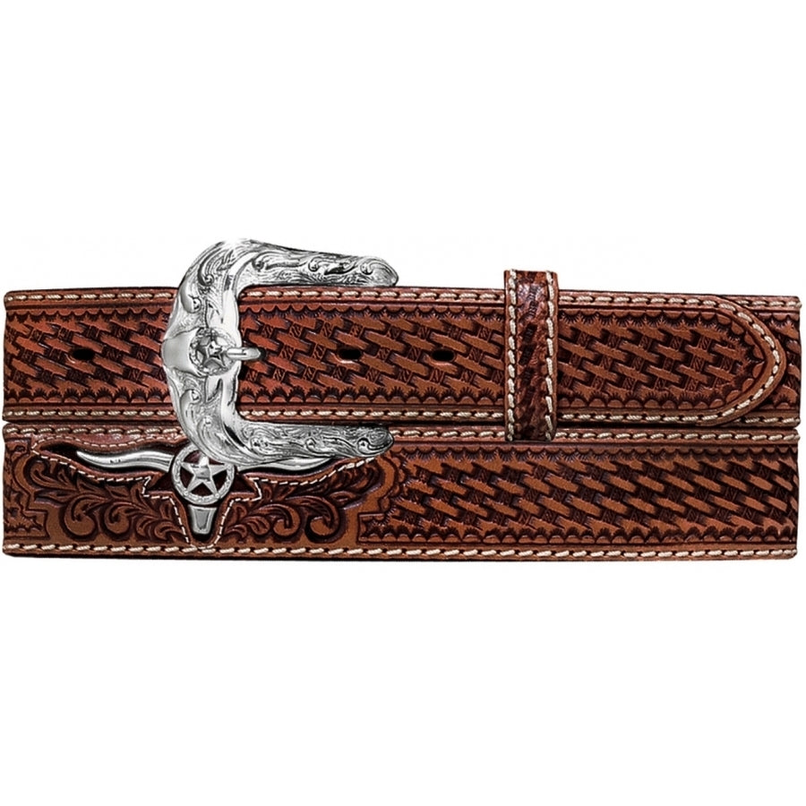 Justin Men's Weaved Trophy Bull Belt