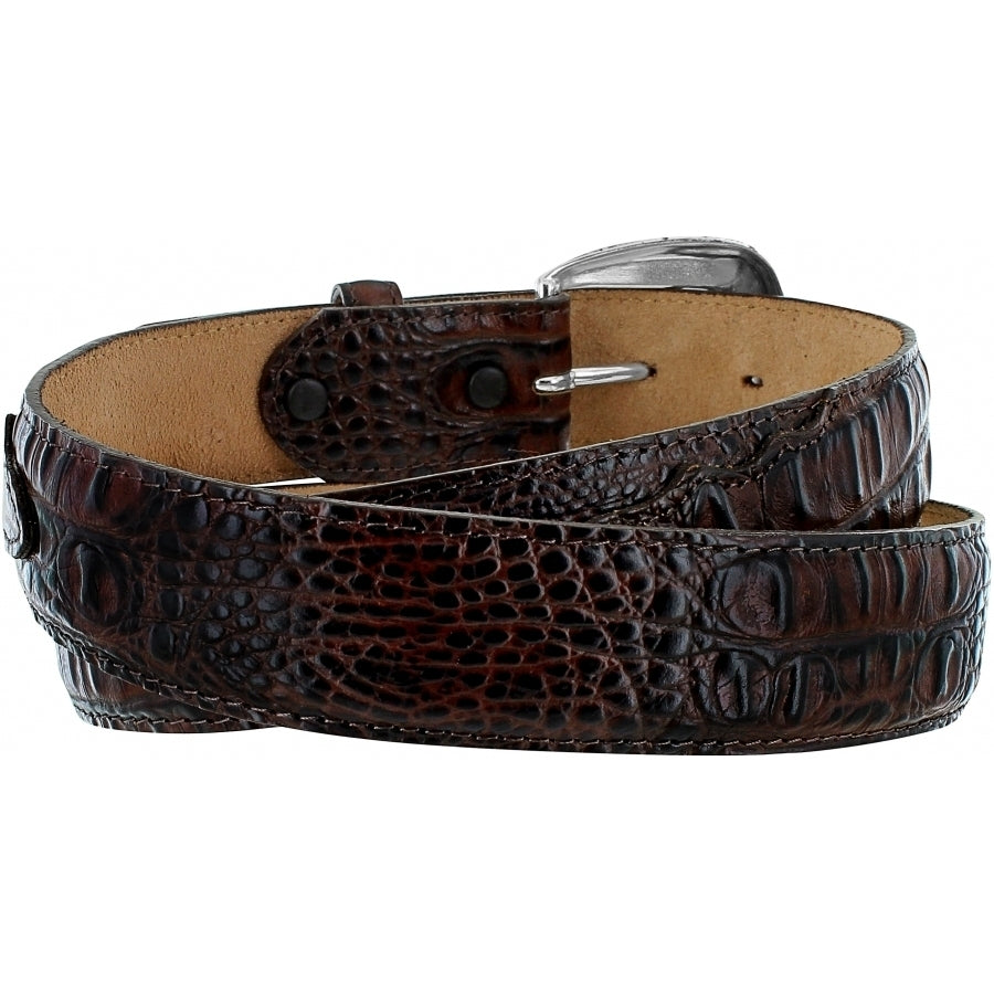 Tony Lama Mens's Chocolate Caiman Belt