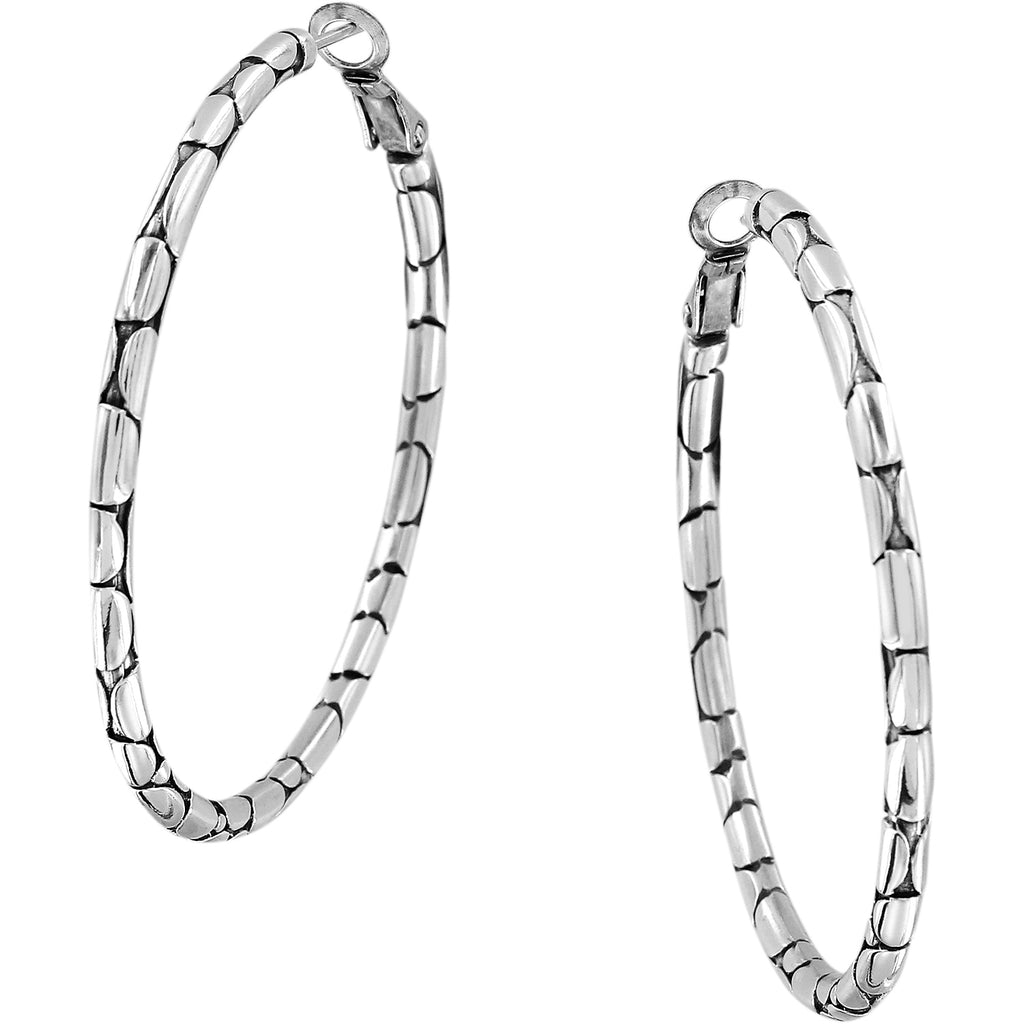 Brighton Pebble Large Hoop Earrings
