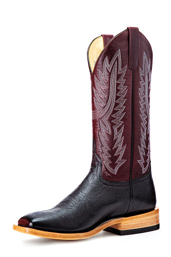 Horse Power Black Smooth Quill Ostrich Boot