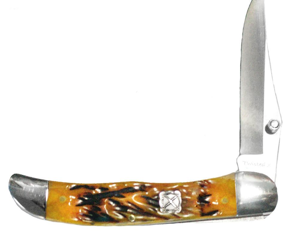 Twisted X Yellow Natural Bone Grip Stockman Knife