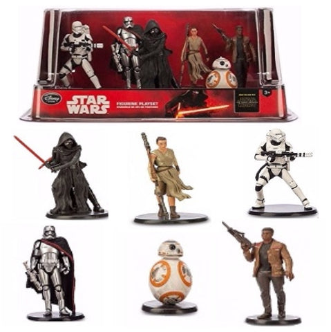 ***PRICE REDUCED*** Star Wars The Force Awakens 6 piece Figurines Set
