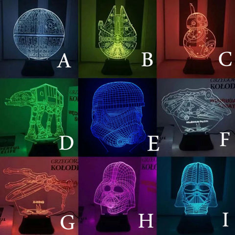 STAR WARS FANS!  GET YOUR 3D USB LED Star Wars Nightlight Here and Make a Light Impression!