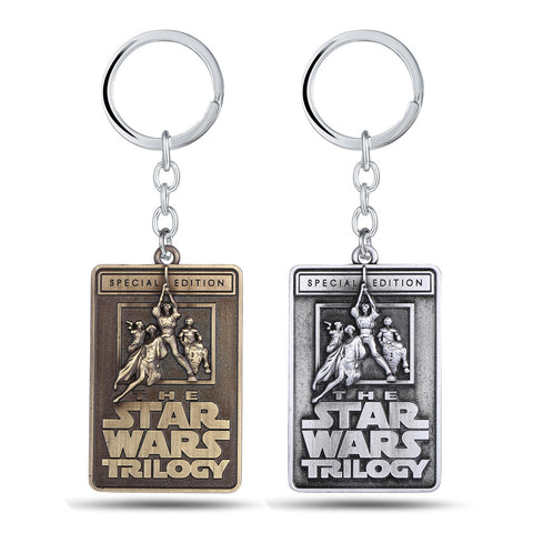 Star Wars Key Chain Trilogy  2 Colors Vintage Square 6*4 cm Great Father's Day Gift