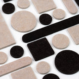 Furniture Pads: 162 Piece Variety Pack – Self Adhesive Felt Floor Protectors with Transparent Noise Bumpers