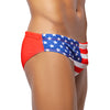 TEAM USA Flag Print Men's Swimming Wear - Male Bathing Suits