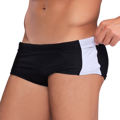 POLO Black & White Men's Swimming Suit - Men's Designer Swimwear