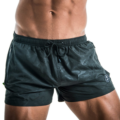 CA-RIO-CA BLACK CAMO FUTEBOL SHORTS  ⚽ - Men's Swim Trunks