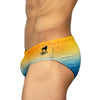 Sun Drops Sunga  - Yellow & Blue -  Men's Designer Swimwear