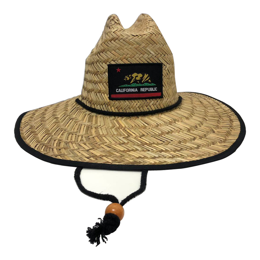 California Republic Flag Lifeguard Straw Hat