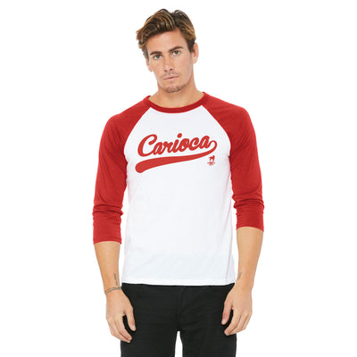 Carioca Vintage Raglan Shirt in Red & White