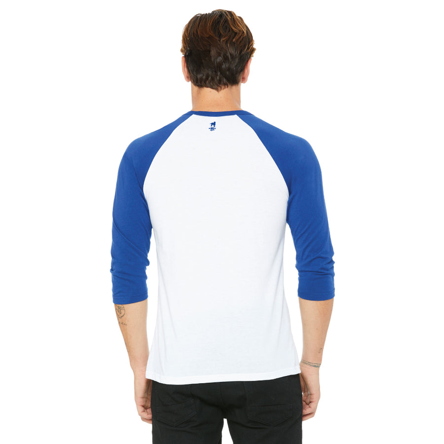 Made In Brasil Raglan Shirt in Blue & White