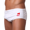 BRANCO / WHITE Men's Swimming Suits - Men's Designer Swimwear
