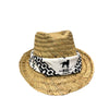 Logotipo Fedora Straw Hat - Red, Blue Or Black - CA-RIO-CA Logotipo Bandana Straw Hat