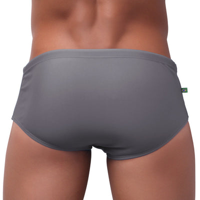 ZINCO | LIGHT GRAY Designer Swim Shorts - Male Bathing Suit