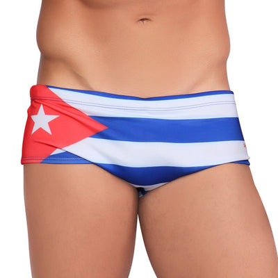 TEAM CUBA Flag Men's Swimming Wear - Male Bathing Suit
