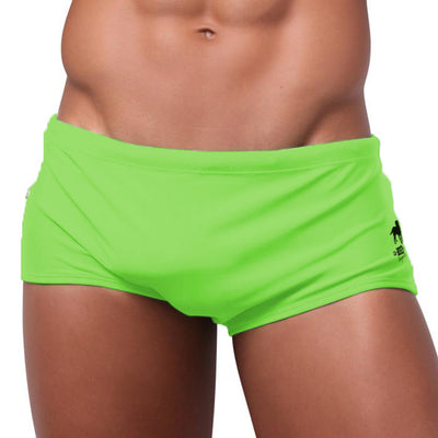 Jureia Verde Green Men's Swimming Suit - Men's Designer Swimwear