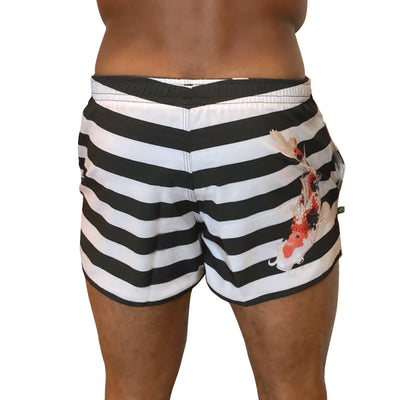 Volley Koi Off-White Men's Shorts - Guys' Swim Trunks