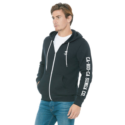 CA-RIO-CA Sunga Co. Crest Logotipo Zip Up Hoodie