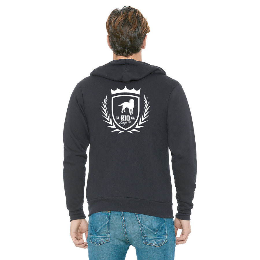 CA-RIO-CA Sunga Co. Crest Logotipo Zip Up Hoodie - CLEARANCE/FINAL SALES