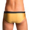 Oscar Men's Swimming Suit - Golden And Black Men's Designer Swimwear