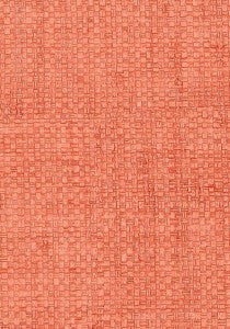 Grasscloth Wallpaper in Coral