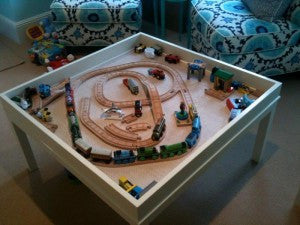 custom train table