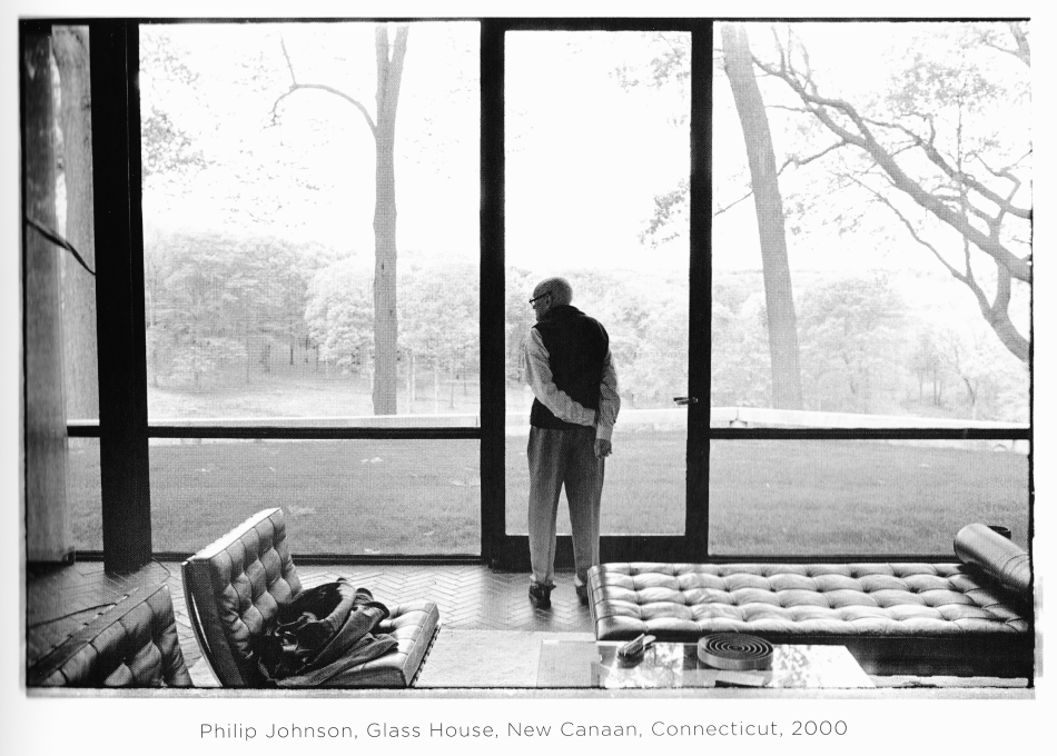 philip johnson, glass house, new canaan, ct, 2000. by annie leibovitz.