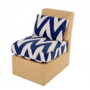Quadrille Zig Zag Slipper Chair