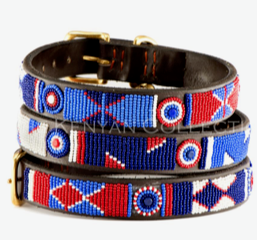 Red White and Blue Beaded Belt - 38""