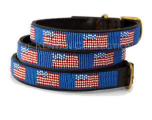 American Flag Beaded Belt - 34'