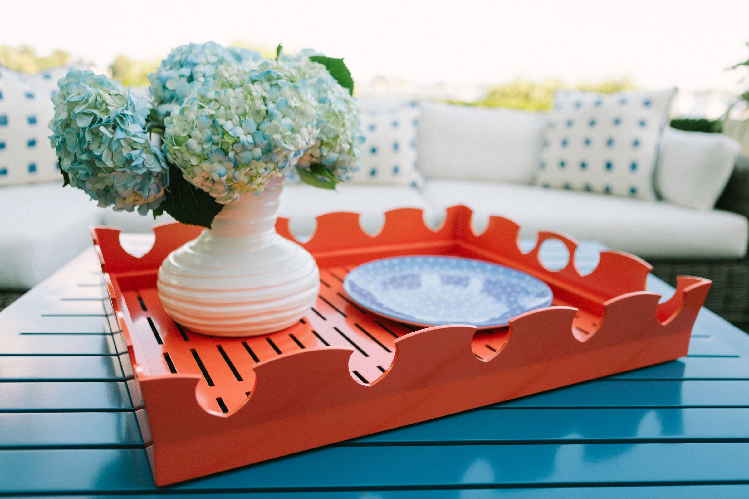 Ocean Drive Tray - White