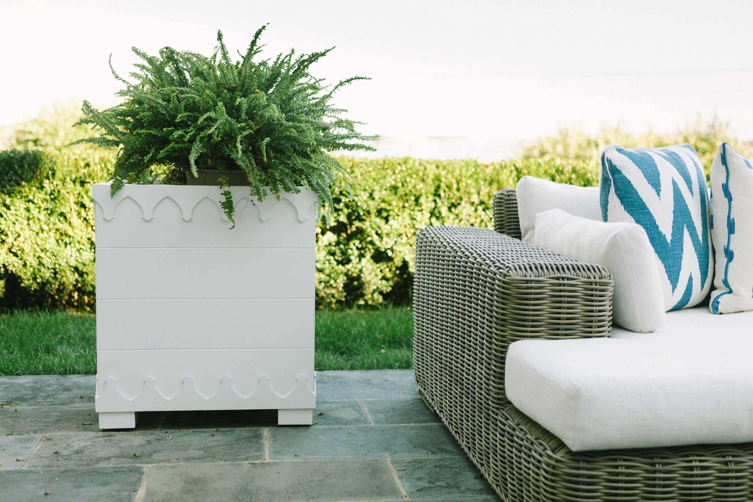 Ocean Drive Planter Large - White