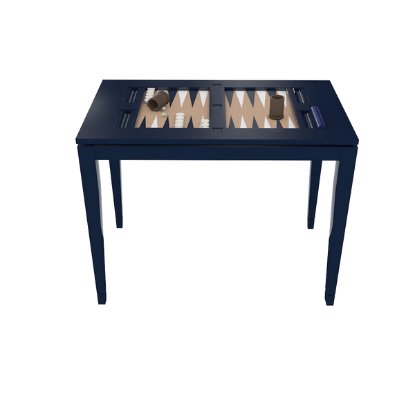 Backgammon Table - Club Navy with Navy Board - Quicker Ship