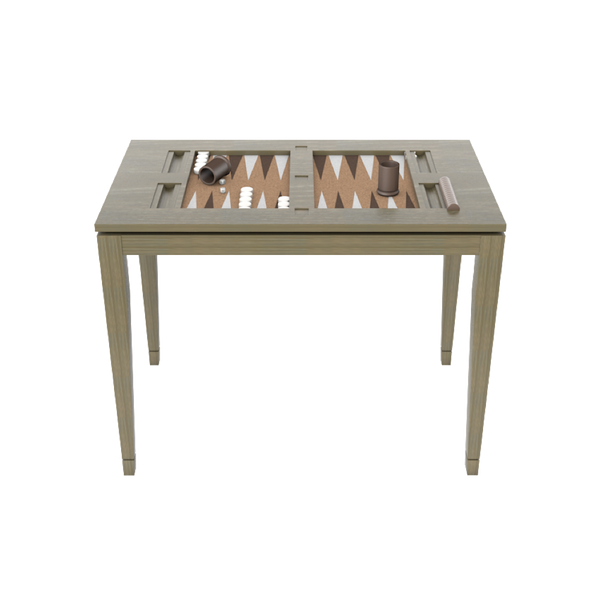 Backgammon Table Driftwood - All Furniture