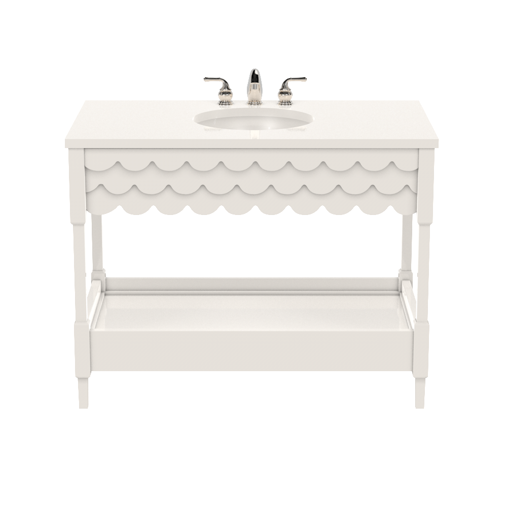 "Capri Vanity Large- 42""- White Dove"