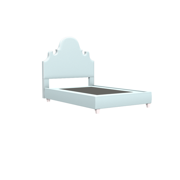 Charleston Platform Bed - Queen - complete-What-Not