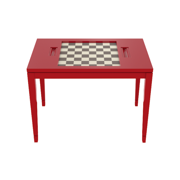 Chess Table - complete-backgammon-plexiglass-top