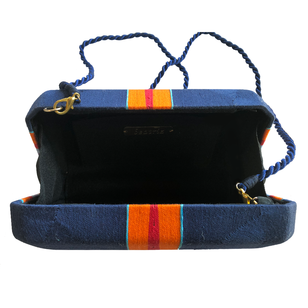Cheska Medium Clutch - BTCL0500 Navy/Orange