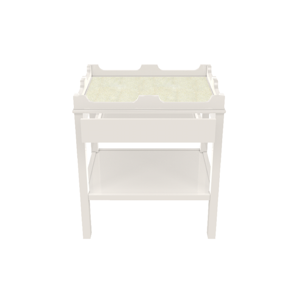 Edgartown Side Table with Shelf and Drawer - Vacation Home Furniture and Summer House Essentials