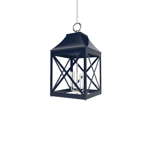 Essex Lantern Nickel - Wall, Table & Ceiling Lighting