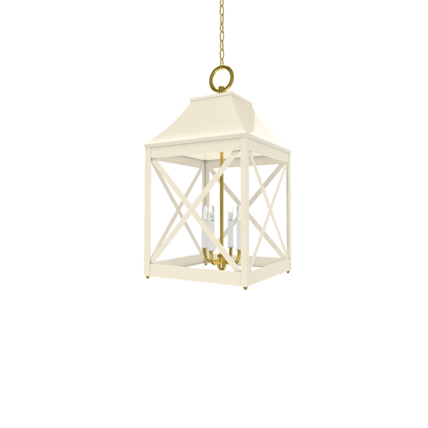Essex Lantern Brass - Wall, Table & Ceiling Lighting