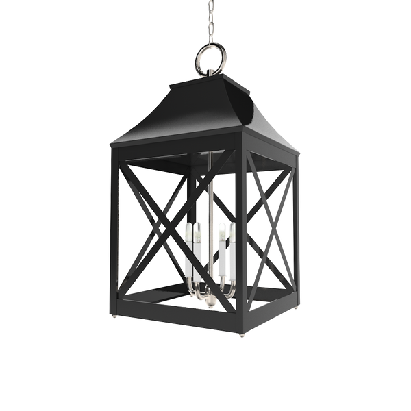 Essex XL Lantern Nickel - Wall, Table & Ceiling Lighting